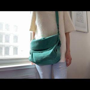 Marc Jacobs suede messenger bag
